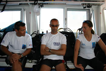 Turkey World Record Attempts, June 2004   Day 8 freediving competition records  yasemin rudi lee david dalkilic castineyra