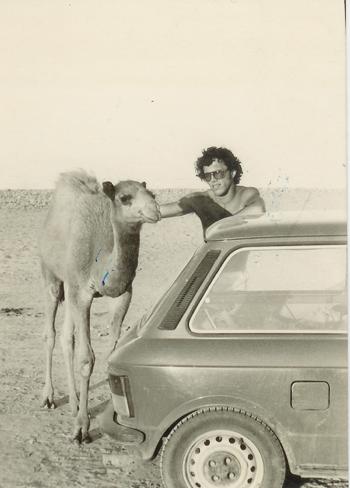 Freediver in Dahab 1970