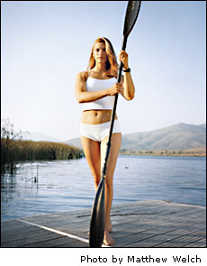 Tamara With Paddle