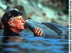 Richard O'Barry & Dolphin