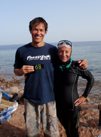 New British Record in Free Immersion free diving  news freediving