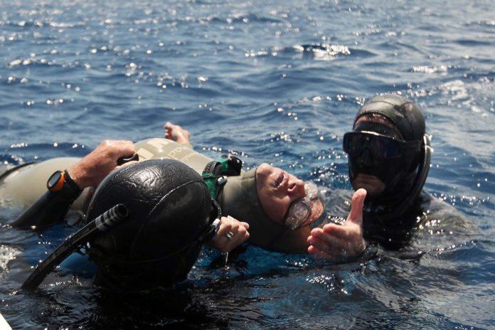 Freediver Blackout at Deja Blue III