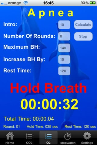 iPhone Apps for Freedivers freediving  training tables o2 iphone ipad freediving CO2 breath hold app