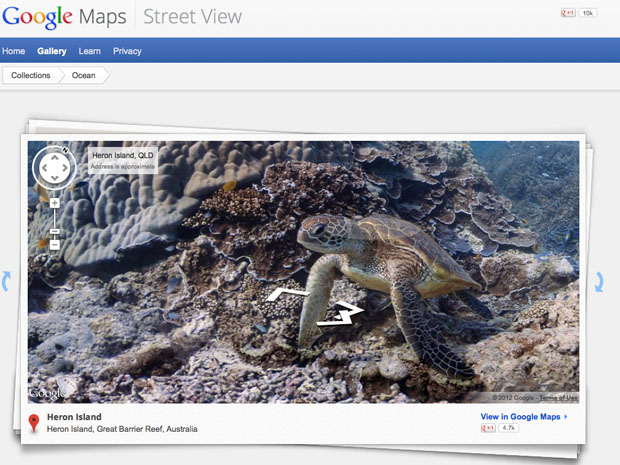 Google Maps dives underwater 3