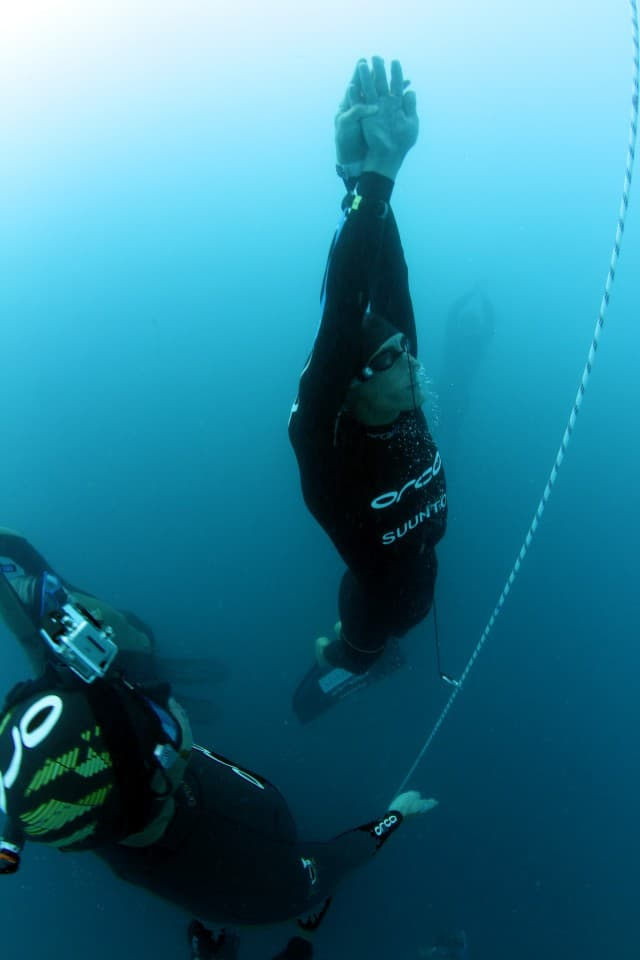 Trubridge Powers Through to a New Constant Weight Freediving Record 1