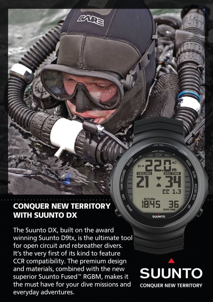 Suunto DX - the World's first watch-sized Rebreather compatible dive computer 1