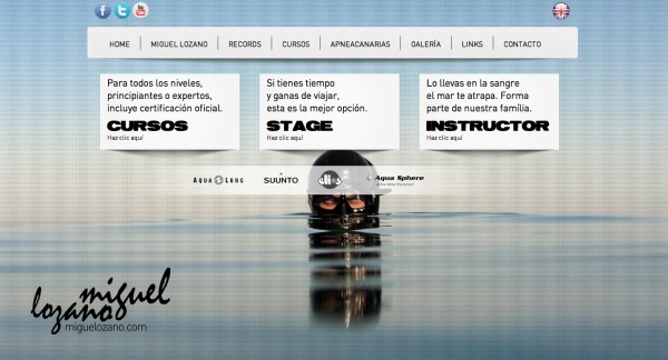 Top Freediver Launches Website: Miguelozano.com 1