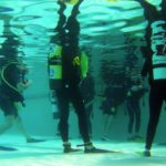 scuba lesson in a pool
