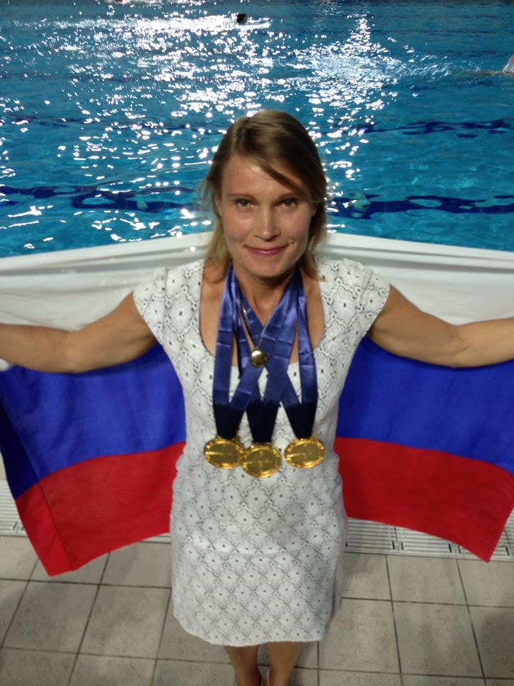 Natalia Molchanova At The AIDA World Championships in Belgrade 2013