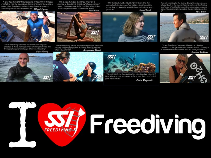 """SSI Launch """"I Love Freediving"""" Campaign 1"""