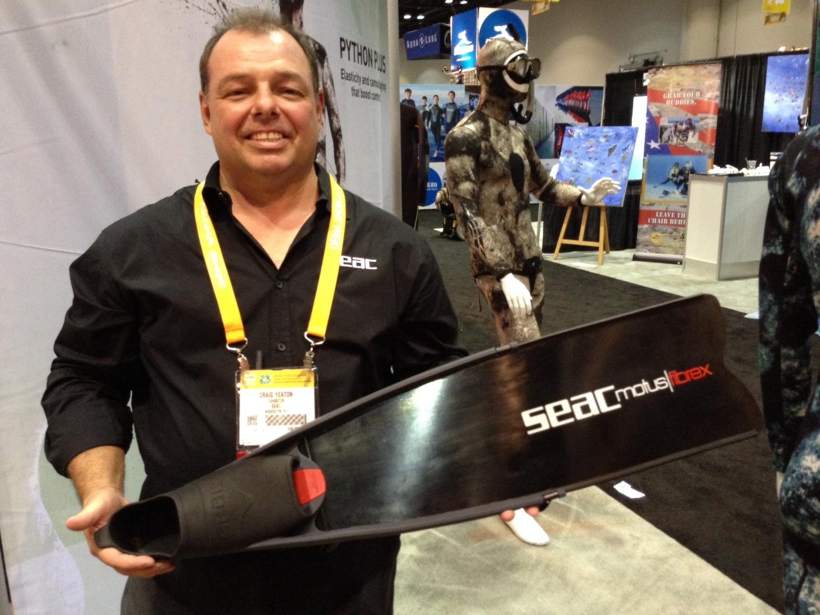 SEAC Introduces New Motus Fibrex Freediving Fin, L70 Mask