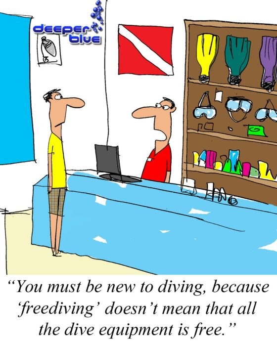 Freediving Doesn't Mean the Diving is Free