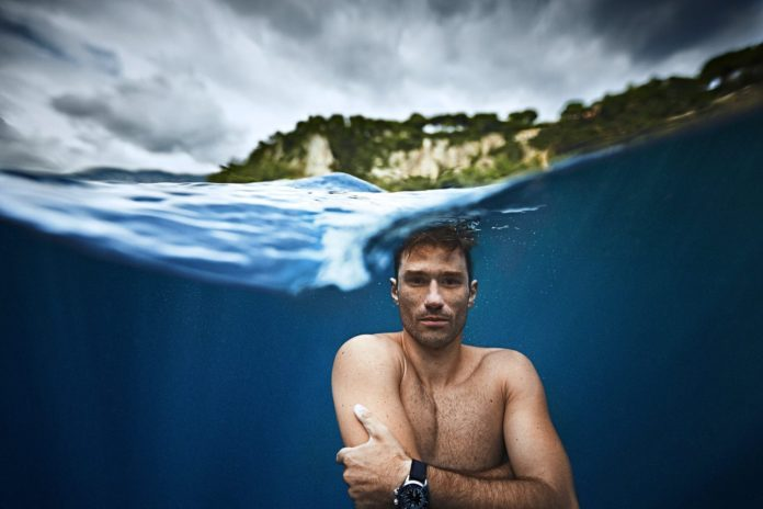 Guillaume Nery Underwater Portrait