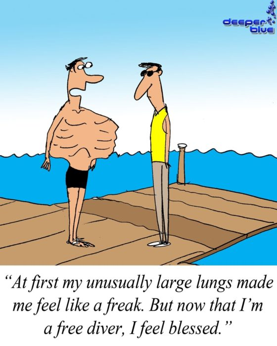 [CARTOON] Now That I Am A Freediver I Feel Blessed cartoon of the week  jerry king freediving cartoon of the week