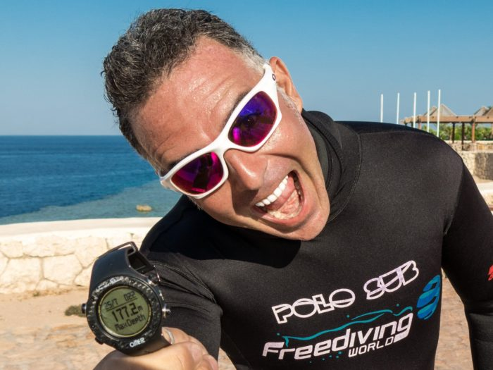 Andrea Zuccari Breaks Italian No Limits National Record with 175m Dive freediving competition records  No Limits NLT news Andrea Zuccari