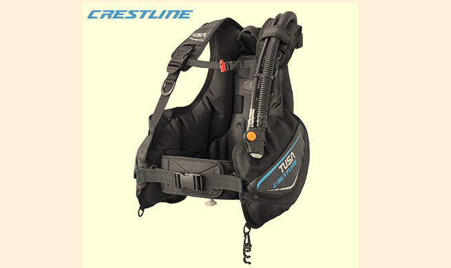 TUSA Unveils Latest Crestline BCD scuba equipment  TUSA news Crestline BC 0601 buoyancy compensator