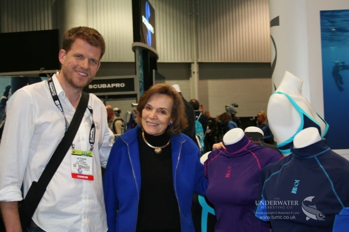 Jim Standing and Dr Sylvia Earle