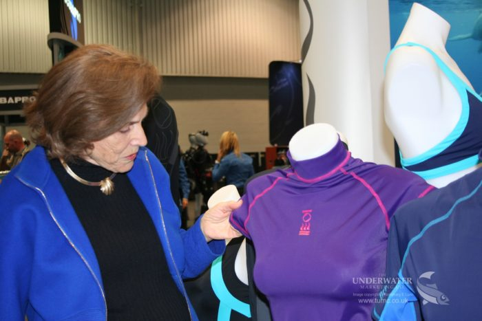 Dr. Slyvia Earle at the launch of the Ocean Positive range at DEMA 2014