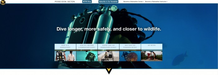 Poseidon Launches New Rebreather-Specific Website 1