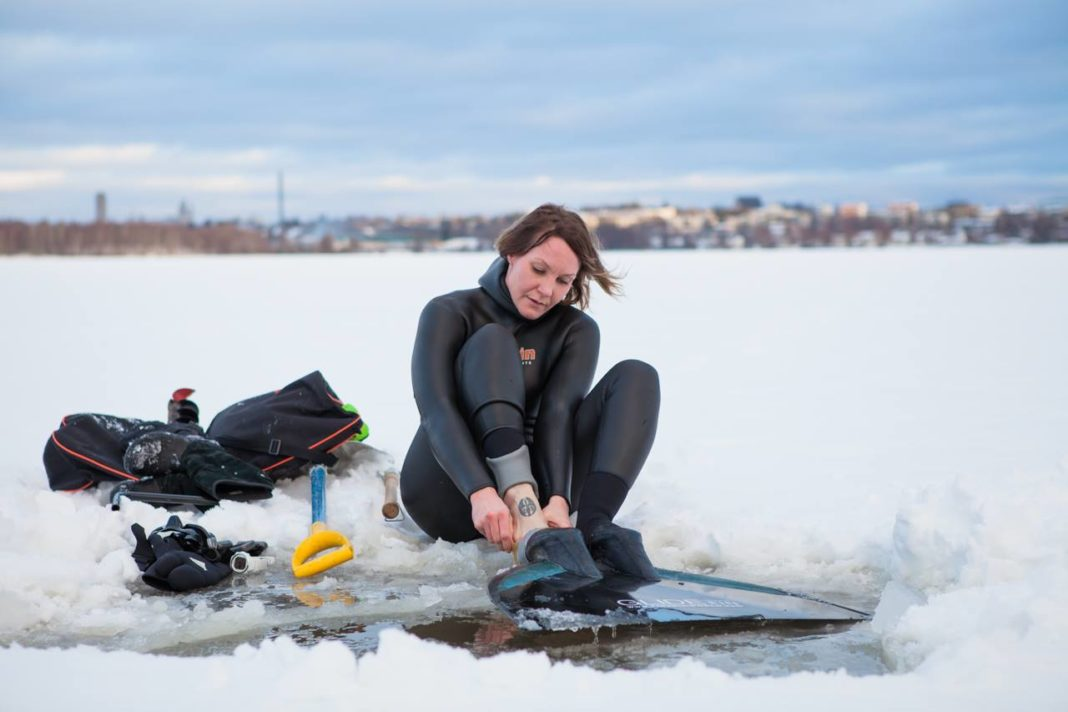 Finnish Freediver Going For Under-Ice World Record 2
