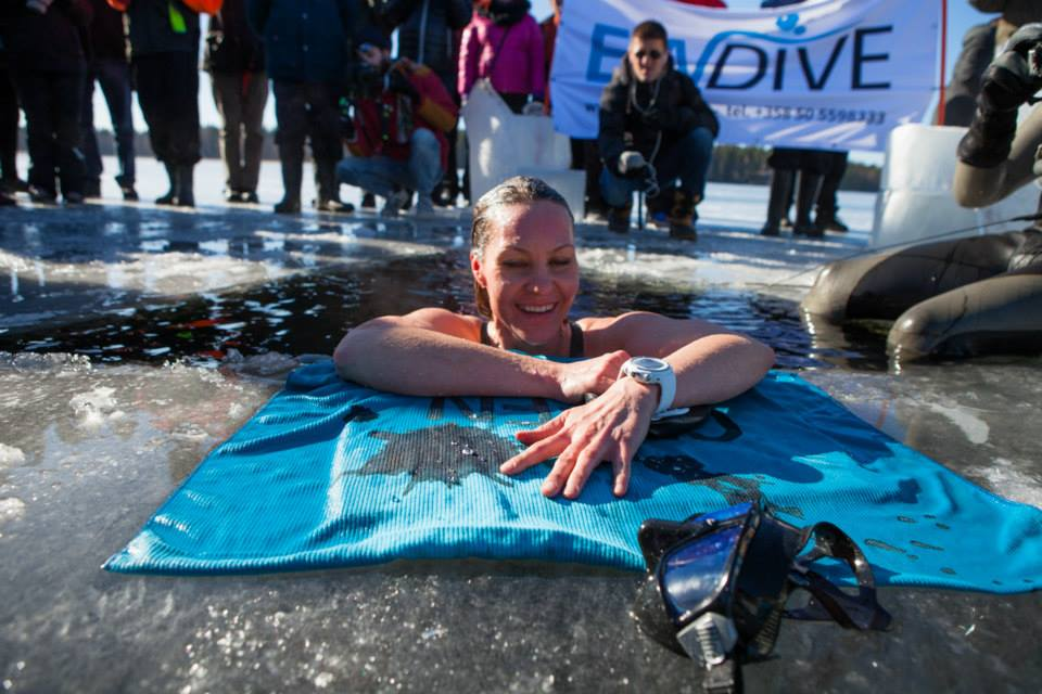 Johanna Nordblad Swims 50m Under Ice For New Guinness World Record 2