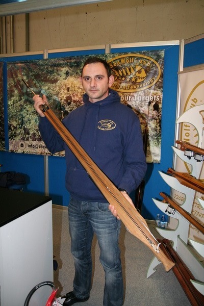 Stefano Donno with his new teak creature RIS