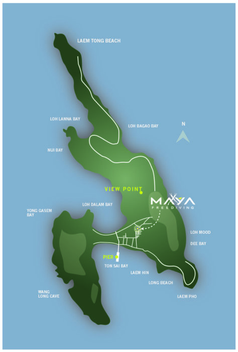 Maya Freediving Map