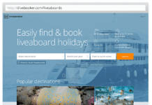 Divebooker.com Screenshot