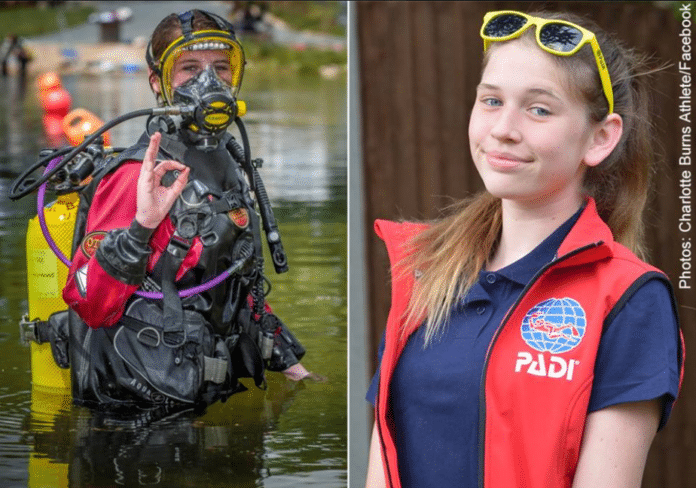 'Mighty girl' Charlotte Burns is PADI's youngest Junior Master Diver.