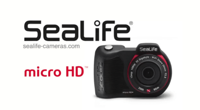 SeaLife's Micro HD camera used for underwater commercial shoot