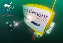 "Fourth Element sponsored an underwater ""store"" at the recent TEKCamp. (Photo Credit: Jason Brown / Bardo Photographic)"