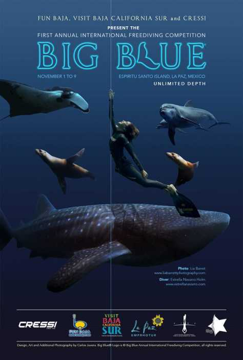 Estrella Navarro - Big Blue International Freediving Competition Informational Poster