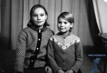 Natalia Molchanova and her older sister Reena as Children
