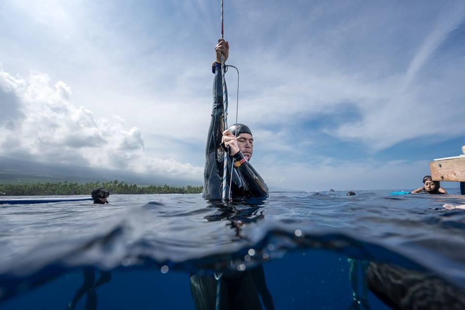Kurt Chambers on the surface, photo © Mike Hong