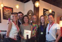 #CalCup winners - Lena Jovanovic Balta, Ben Weiss, Claire Paris, Kevin Busscher, Jenna McGrath, Rene Hallen