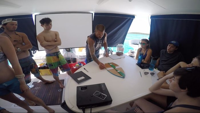 The SUSiE Chronicles: sailing lecture and practical
