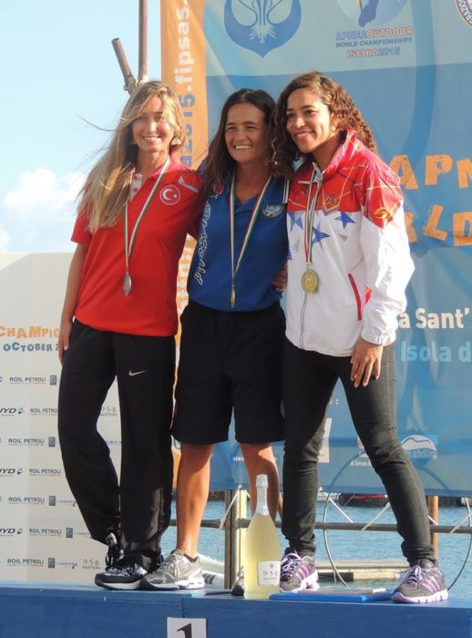 Womens Winners - CMAS Outdoor Apnea WC 7th October