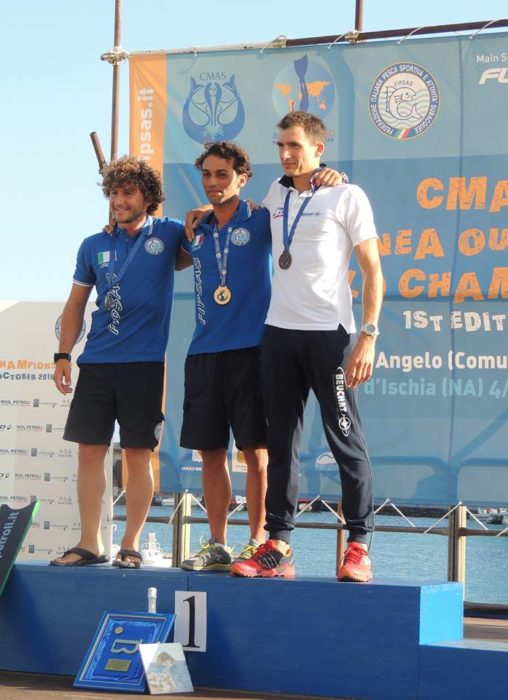 Mens Winners - CMAS Outdoor Apnea WC 7th October