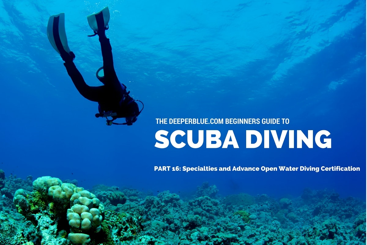 Specialties And Advance Open Water Diving Certification Deeperblue