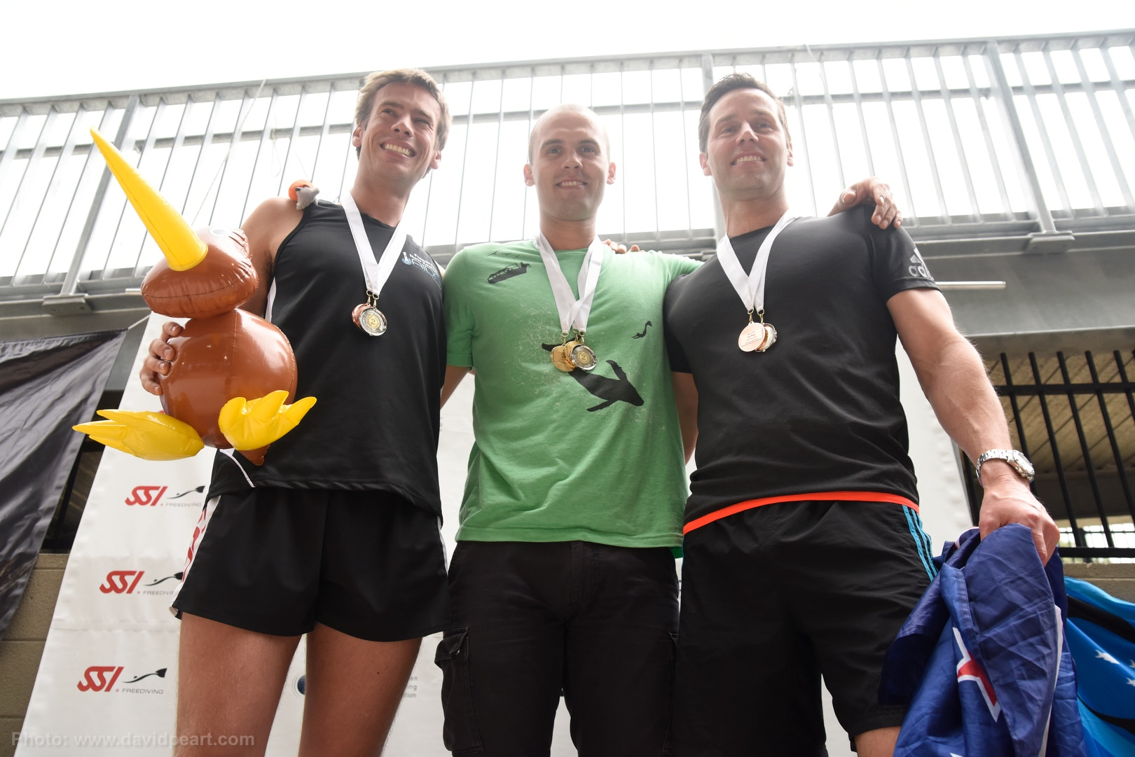 Chris Marshall, Alexey Molchonov, Ant Williams receiving their medals! Photo by Davd Peart