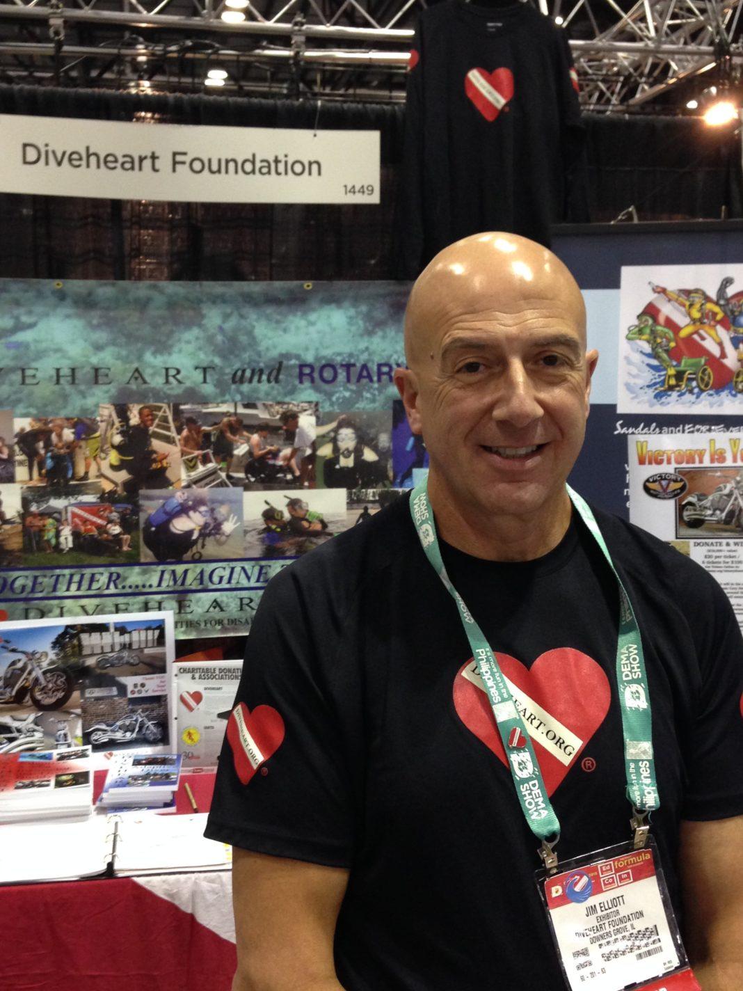 DiveHeart's Jim Elliott at DEMA Show 2015