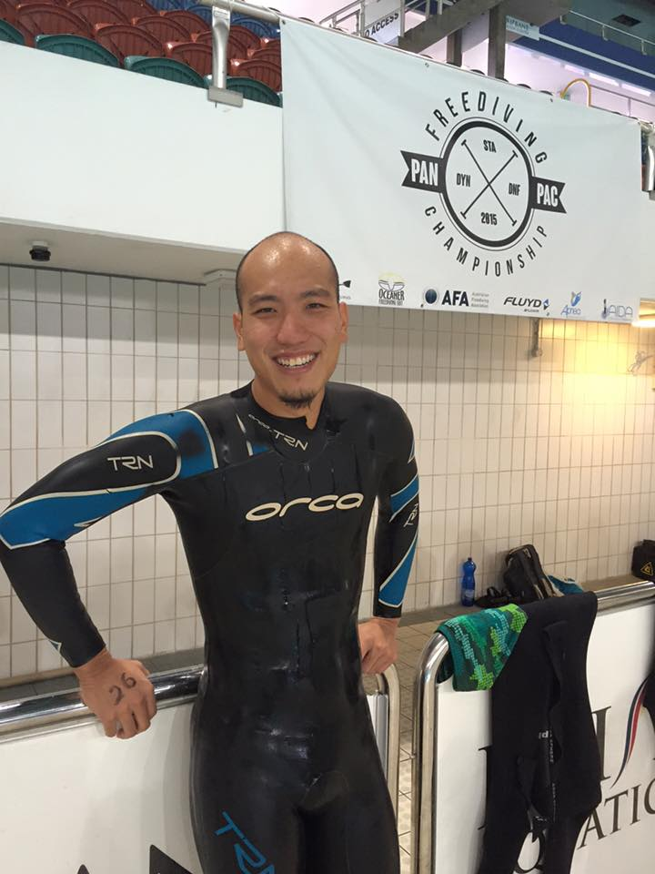 Jonathan Chong of Singapore after his record setting DNF dive.