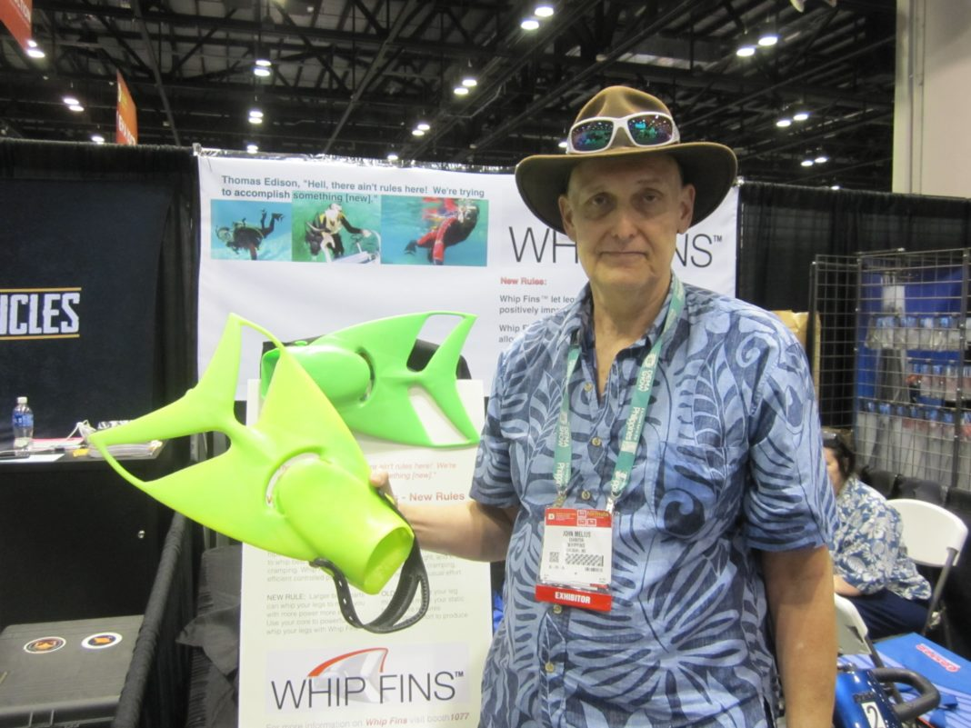 John Melius' 'Whip Fins' Featured At DEMA Show 2015