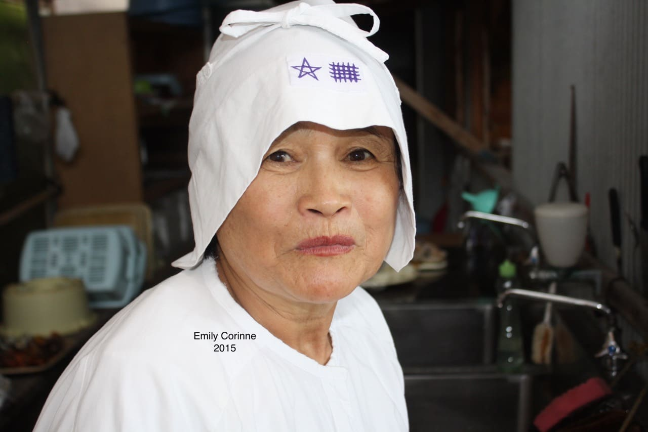 Sayuri is in her mid-60s and is one of the best divers in Toba City. She practiced Funado diving (variable weight) with her husband in the past but stopped after an ear injury. She told me that she doesn't like to fish with her husband anymore because he works her too hard!