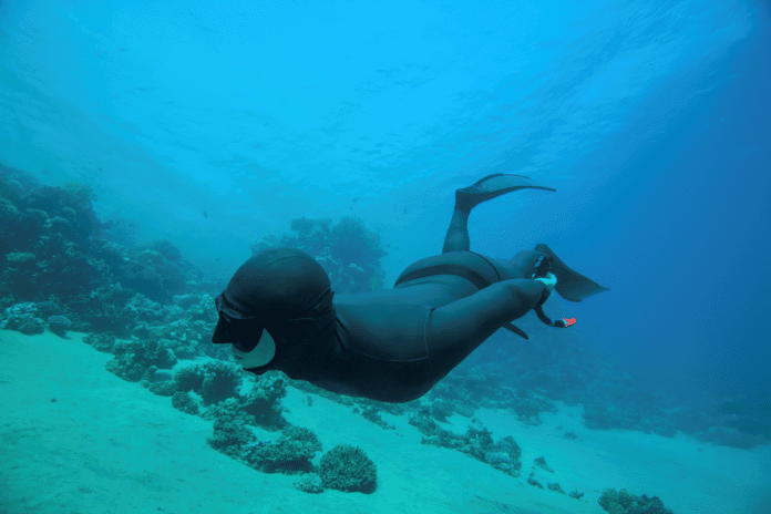 Freediver Underwater