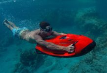 The SEABOB: for the water enthusiast who already has everything else. Photo credit: Cayago AG (www.seabob.com)
