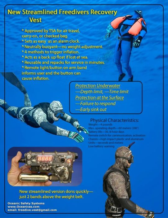 Freedivers Recovery Vest Mk 3 Promotional Flyer