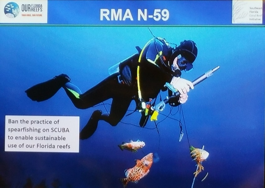 OurFloridaReefs.org proposes to ban spearfishing on scuba. Image courtesy OurFloridaReefs.org