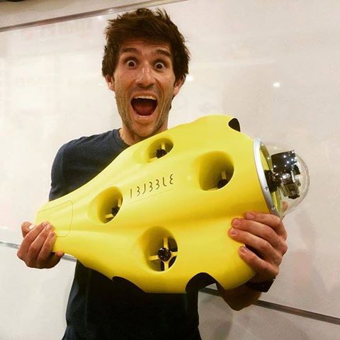Guillaume Nery and the first iBubble Prototype