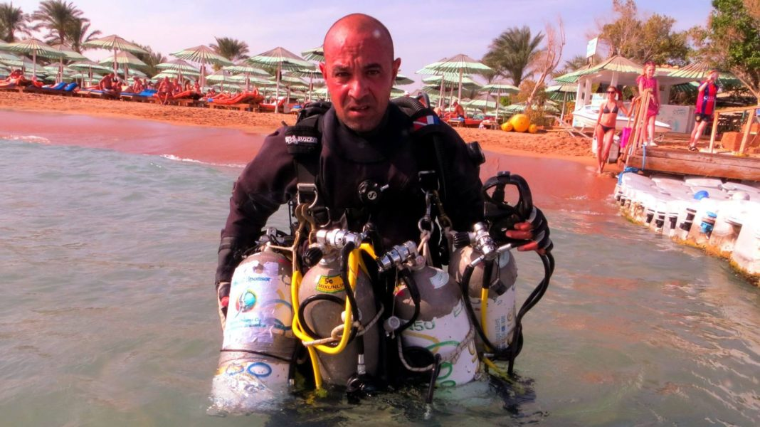 Egyptian scuba diver Wael Omar wants to attempt a new dive record in March.